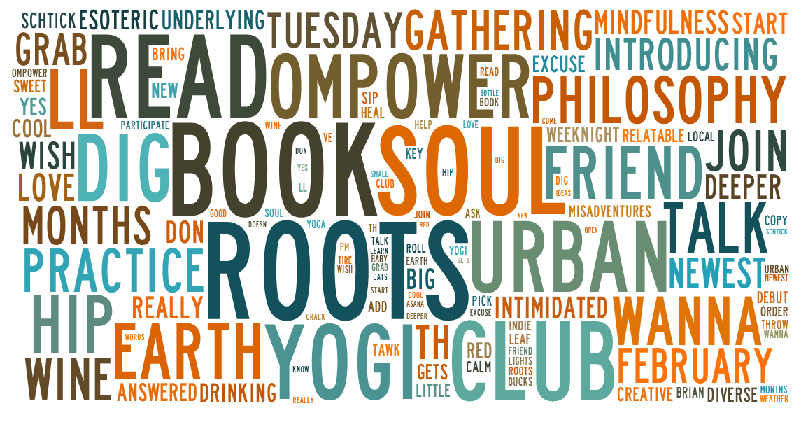 book club word art
